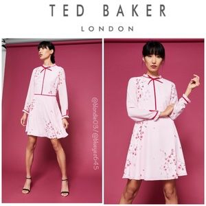 Ted Baker cherry blossom neck tie dress 2(US 6)